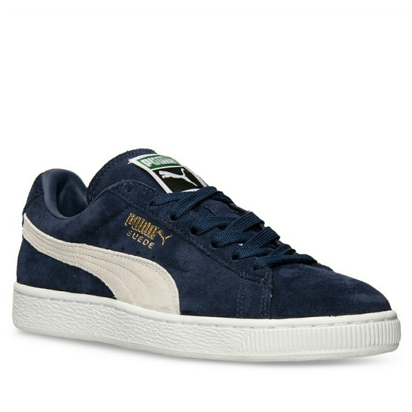 quality design a14f4 771f5 New! PUMA Suede Classic Plus Men's Sneakers Blue NWT